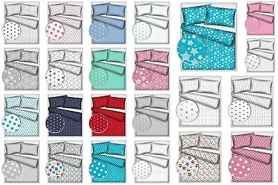 2 Pieces Baby Bedding Pram Crib Cot Bed Toddler Bed Single Bed 100% Cotton STARS