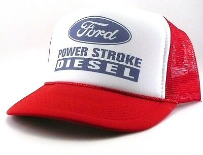 2d2ee6232 FORD DIESEL TRUCKER Hat mesh hat snapback hat red new power stroke hat