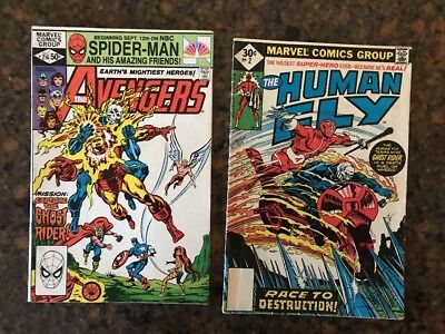 The Avengers #214 The Human Fly #2 Appearing Ghost Rider Marvel Marvel Comic Lot
