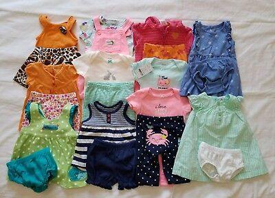 Baby Girls 3/6 6 months Spring and Summer clothing outfits clothes lot