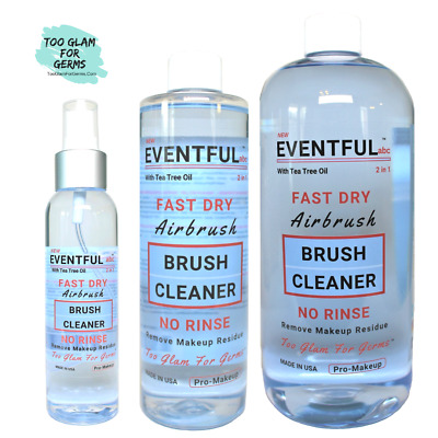 Pro-Makeup Airbrush &  Brush Cleaner 2 in 1- Too Glam for Germs by EVENTFUL