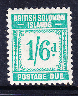 BRITISH SOLOMON IS GVI SGD8 1/6 Postage Due turquoise-green very lightly mm c£38