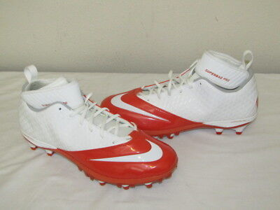 71575ca73 NEW Nike Lunar Superbad Pro Football Lacrosse Cleats Orange 511334-116 Size  13.5