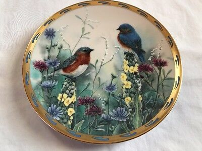 "LENOX PLATE NATURE'S COLLAGE  ""Summer Interlude"" 1992 CATHERINE MCCLUNG."