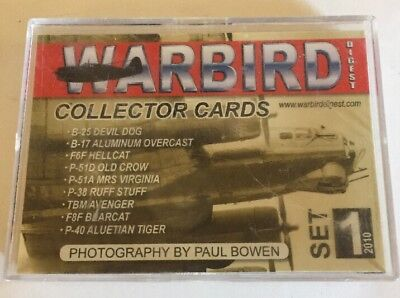 Warbirds Digest Collector Cards Set #1 & #2 18 Cards/Planes