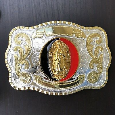 NEW HOLLY MARY Belt Buckle Western Cowboy OVERSIZE SILVER GOLD RED HIGH QUALITY