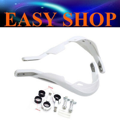 22mm 28mm White Brush Hand Guard Handguard BUSTERS Protector DIRT PIT PRO BIKE