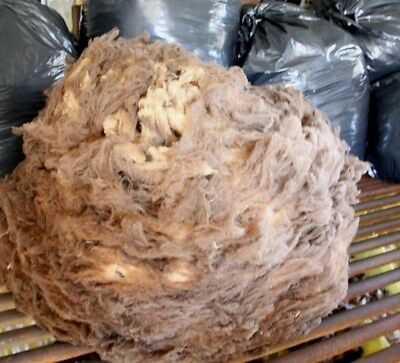Fleece Natl Col Wool 2.36 Kilo Light/Med/Choc Brown 19 mic/merino RAW post disc