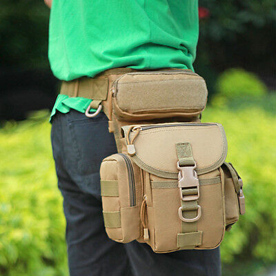 Men's Tactical Outdoor Hip Leg Bag Motorcycle Rider Military Waist Fanny Pack