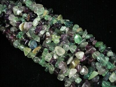 Gemstone Chips Fluorite 80cm Strand Beads Jewellery Jewelry Spacer FREE POSTAGE