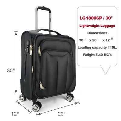 """Eaglemate 30"""" Luggage Suitcase Trolley Set  Travel Carry On Bag Soft Lightweight"""