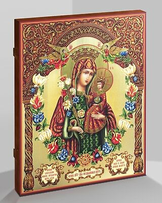 Russian Orthodox Wooden Icon Gold