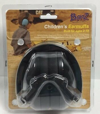 Children's Earmuffs Hearing Protection Ages 2-10 Years Black NEW