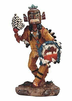"""StealStreet Native American Indian Warrior with Mask Dance Statue Figurine, 8"""""""
