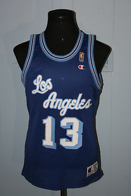 VINTAGE CHAMPION JERRY West Los Angeles Lakers Gold Logo Jersey Size ... 63a9c452f