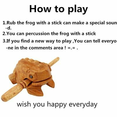 Symbol Guiro Rasp Money Frog Decompress Toys Musical Instrument Wooden Block
