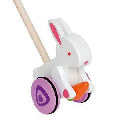 Hape Push & Pull BUNNY Kids Toddler Wooden Toy E0342 for 1 Year and Over