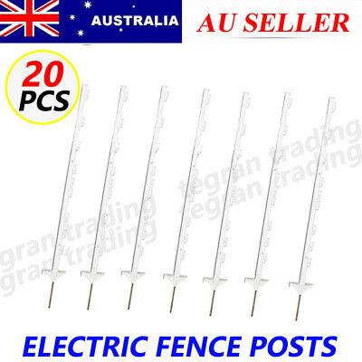 20X Strip Graze Tread In Poly Posts Electric Fence Wire Tape Fencing Post Sale