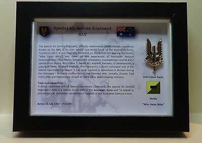 "Special Air Service Regiment - (SAS) CAP BADGE FRAMED ""Limited Edition"""