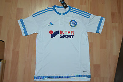 New  Adidas Olympique De Marseille Home Football Shirt Maillot  2015-16 Size M