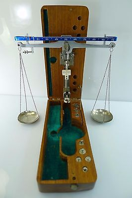 Rare Vintage Sensitive Accurate Gold Weighing Scales With A Full Set Of Weights