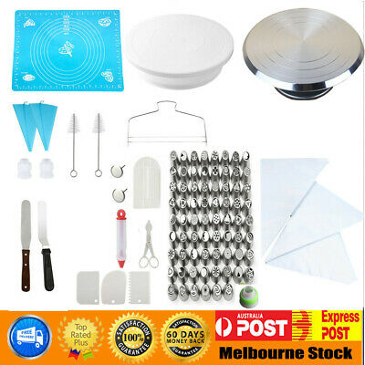 28cm Cake Turntable Rotating Decorating / 24  52 Pcs Flower Icing Piping Nozzles