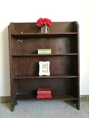 Small Oak Arts and Crafts Bookcase
