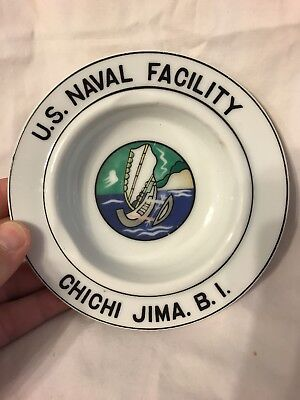 VINTAGE CHICHI JIMA US NAVAL FACILITY VETERAN WWII KOREA OUTRIGGER Cigar ashtray
