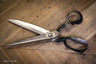 Vintage Antique Early 20th Century Tailors / Dress Makers Scissors Shears