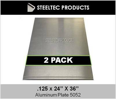 "2 Pieces - 1/8"" .125 Aluminum Sheet Plate 24"" x 36"" 5052 - SAVE$ When You Buy 2!"
