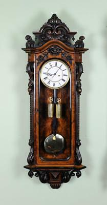 EXCEPTIONAL LENZKIRCH VIENNA REGULATOR STYLE WALL CLOCK - Early example