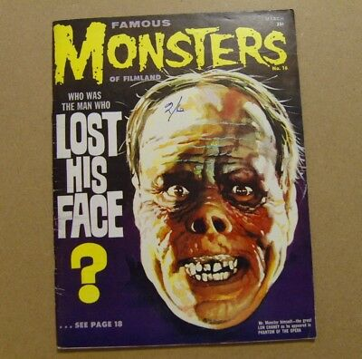 Famous Monsters Of Filmland #16 - March 1962 - Fn (6.0) Phantom Of The Opera