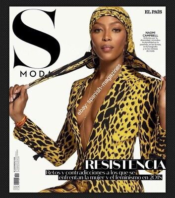 Naomi Campbell S Moda Spain Magazine January 2018 Cover Editorial Top Model