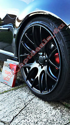 SCUFFS by Rimblades Car Tuning Alloy RED Wheel Rim Protectors Tire Guard Line