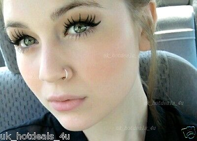 Sterling Silver Thin Small Silver Open Nose Ring Hoop 06mm