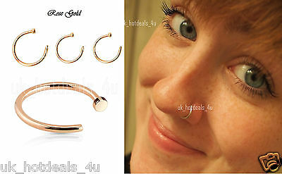 Extra Small Rose Gold Filled Nose Ring/Hoop Earring/Tragus/Helix 20Gauge