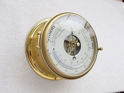 Barometer Ship Clock Schatz Royal mariner ,complete service by clockmaker be my