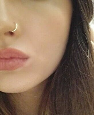 SALE Fake Nose Ring Septum Ring Hoop Cartilage Tragus Helix Small Thin Piercing