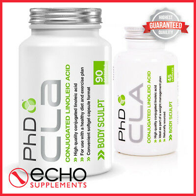 PhD Nutrition Pure CLA 1000mg 90/45 Softgel FAT BURNER WEIGHT LOSS FREE Delivery