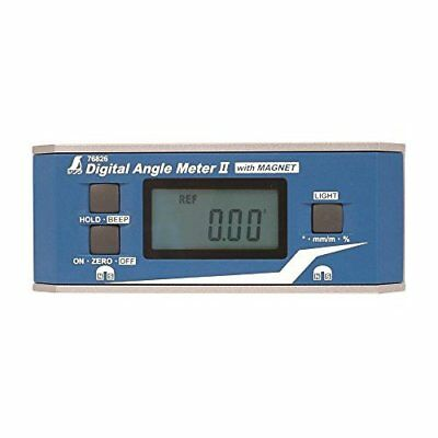 Shinwa Rules Digital Angle Meter竇。with Magnet 76826 Brand New from Japan