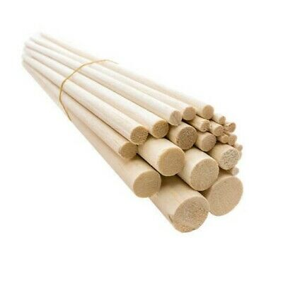 "4"" Balsa wooden dowels. Arts & crafts. Model making. 3/16 1/4 5/16 - 5/8 1/2 1"""