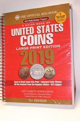 2019 Red Book Price Guide, 72nd Edition, Large Print, In Stock & Shipping NOW!