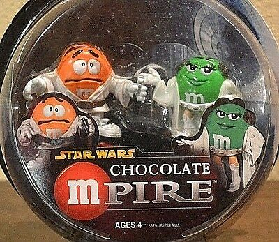 Star Wars Chocolate M&M MPire Princess Leia  Luke Skywalker Collectible's 2005