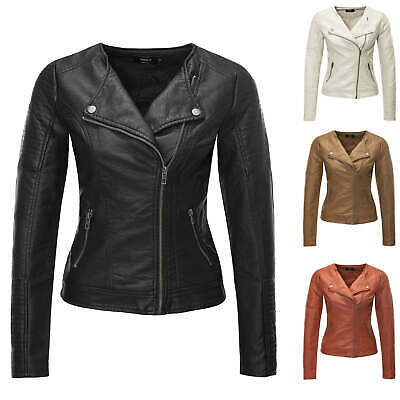 PU Only Damen Kurze vKunstleder Jacke onlFLORA Faux Leather Jacket Biker-Jacke