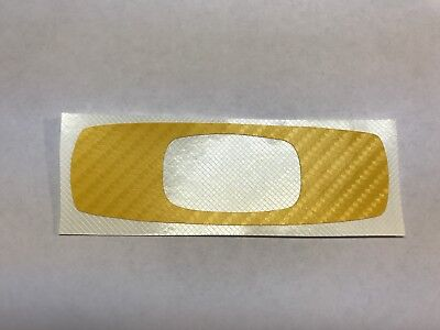 "Oakley Square YELLOW Carbon Fiber Look Decal Sticker 8"" Wide Logo Vinyl Window"