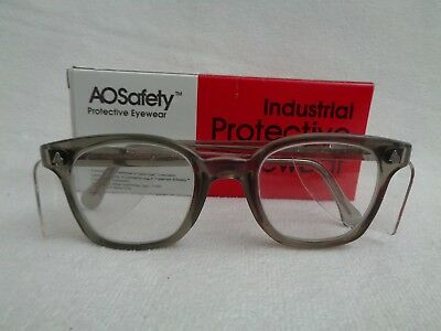 American Optical AO Vintage Safety Glasses NOS Gray Clear Lenses New Old Stock