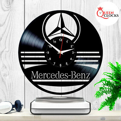 Mercedes Benz Car Logo Vinyl Record Wall Clock Collection Emblem Gifts for Men