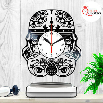 Star Wars Imperial Stormtrooper Helmet LP Vinyl Wall Clock Disney Kids Art Decor