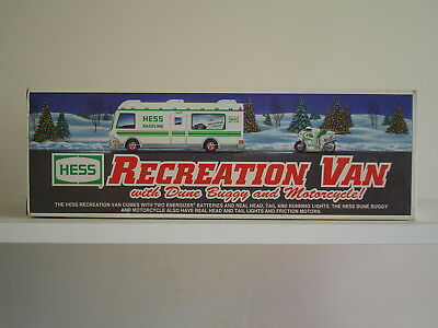 1998 Hess Recreation Van With Dune Buggy And Motorcycle New In Box!!! 98-1