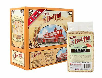 Bob's Red Mill Crunchy Coconut Granola, 18 Ounce Pack of 4